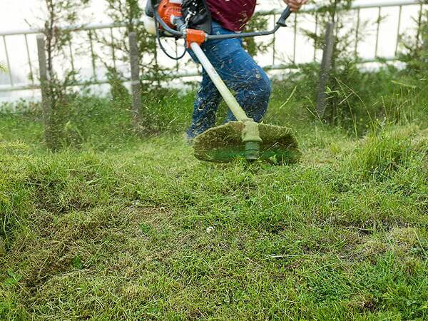 Professzionális eszközök: Így könnyű a kert, üres, vagy eladó telek fűnyírás, gazvágás, parlagfű irtás.